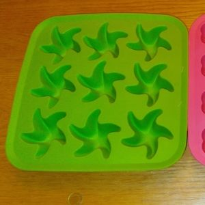Lot of Ikea Star And Flower Ice Molds